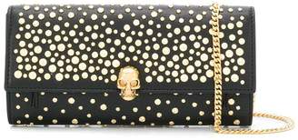 Alexander McQueen studded skull wallet with chain