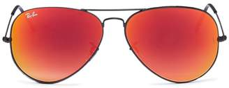 Ray-Ban 'RB3025' mirror aviator sunglasses