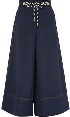 Peter Pilotto Belted Canvas Culottes - Navy