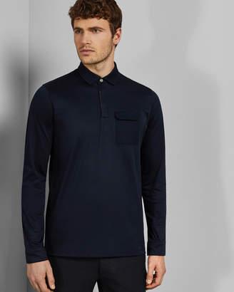 Ted Baker PYTHON Long sleeved polo shirt