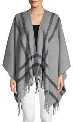 Amicale Border Double-Faced Merino Wool Ruana