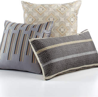 """Hotel Collection Modern Colonnade 18"""" Square Decorative Pillow"""