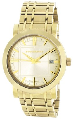 Burberry 12993 Gold Tone Stainless Steel Quarts 40mm Mens Watch $250 thestylecure.com