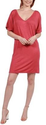 24/7 Comfort Apparel Women's Ashton Shift Style Mini Dress