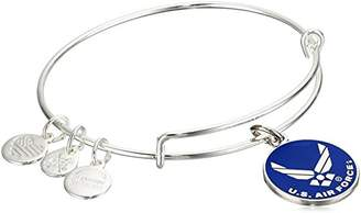 "Alex and Ani Armed Forces"" US Air Force Expandable Silver Wire Bangle Charm Bracelet"