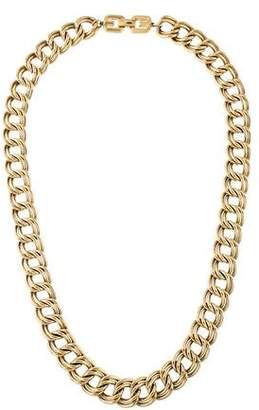 Givenchy Double Link Curb Chain Necklace