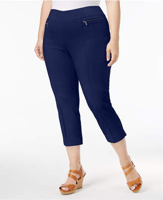 Style&Co. Style & Co Plus Size Pull-On Capri Pants, Created for Macy's