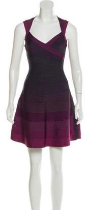Herve Leger Edita A-line Dress Plum Edita A-line Dress
