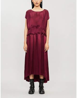 Ann Demeulemeester Flared-trim crepe dress