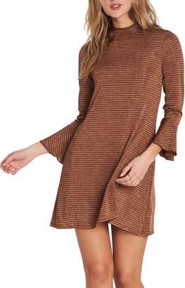 Billabong Flare Cuff Stripe Minidress