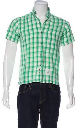Thom Browne Plaid Short Sleeve Shirt