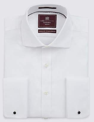 Marks and Spencer Pure Cotton Twill Slim Fit Shirt