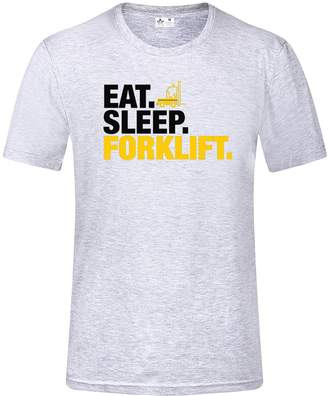 1b6081fe HSX Tees Eat Sleep Forklift T-Shirt(L,)