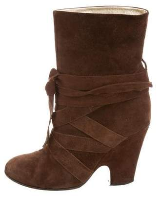 Marc Jacobs Suede Lace-Up Boots