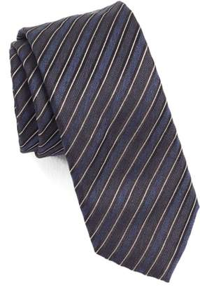 BOSS Diagonal Stripe Silk Skinny Tie