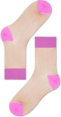 Hysteria By Happy Socks Filippa Colorblock Cotton-Stretch Ankle Socks