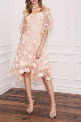 Marchesa Off Shoulder Dress