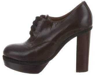 Marni Leather Platform Oxfords