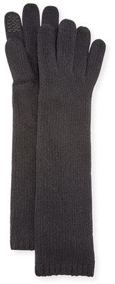 Portolano Long Cashmere Smart Gloves, Black $95 thestylecure.com