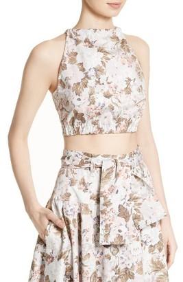 Women's Rebecca Taylor Penelope Floral Crop Top $175 thestylecure.com