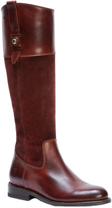 Frye Jayden Button Leather & Suede Tall Boot