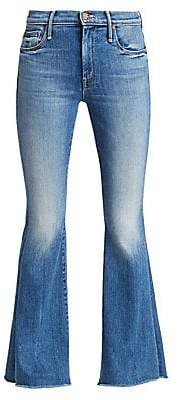 Mother Women's Weekender High-Rise Fray Flare Jeans