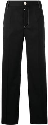 MM6 MAISON MARGIELA contrast stitch wide trousers