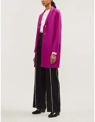 Harris Wharf London Single-breasted wool cocoon coat