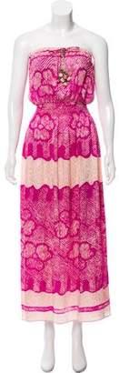 Calypso Printed Strapless Dress