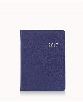GiGi New York 2017 Notebook In Indigo Goatskin Leather