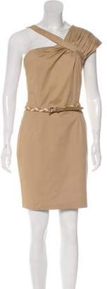 Christian Dior Pleat-Accented Sleeveless Mini Dress