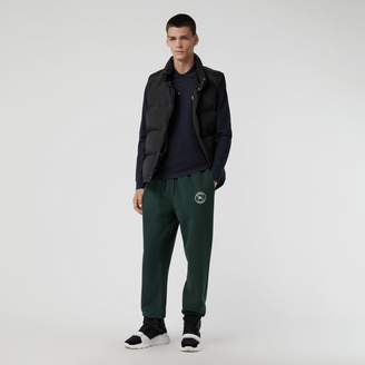 Burberry Embroidered Logo Jersey Trackpants, Green