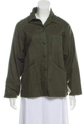 The Great Woven Button-Up Jacket