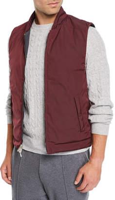 Brunello Cucinelli Men's Reversible Zip-Front Quilted Vest