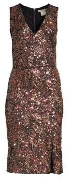 Alice + Olivia Natalie Sequin V-Neck Dress