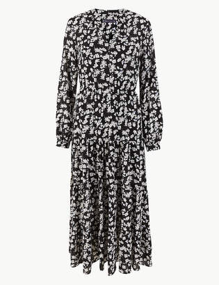 331a5937b86 M S CollectionMarks and Spencer Floral Print Waisted Maxi Dress