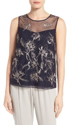Women's T Tahari Harla Embroidered Shell $98 thestylecure.com