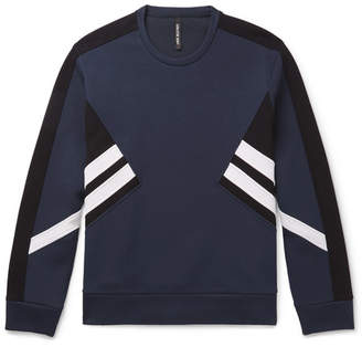Striped Stretch-Jersey Sweatshirt