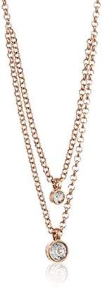 Dyrberg/Kern 15/02 Fulli RG Crystal Necklace Partially Gold-Plated Brass 45 cm 338054