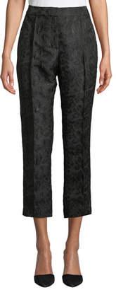 Kate Spade High-Rise Straight-Leg Metallic Jacquard Pants
