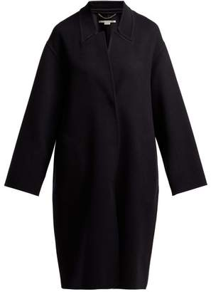 Stella McCartney Double Faced Wool Cocoon Coat - Womens - Navy