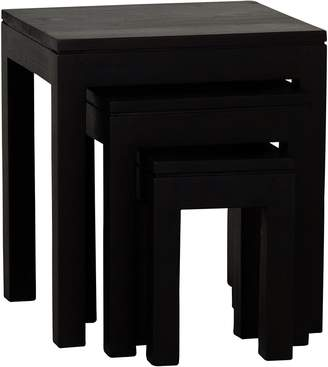Kayu Estate Nesting Tables Hague Side Table, Chocolate (Set of 3)