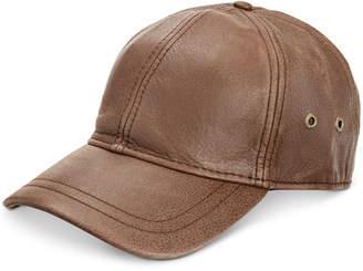 Dorfman Pacific Stetson Men's Leather Baseball Cap