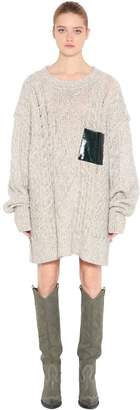 MM6 MAISON MARGIELA Cotton Blend Loose Knit Sweater Dress