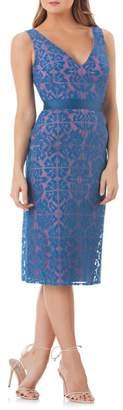 Kay Unger Lace Sheath Dress