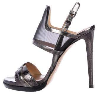 Reed Krakoff Metallic Slingback Sandals