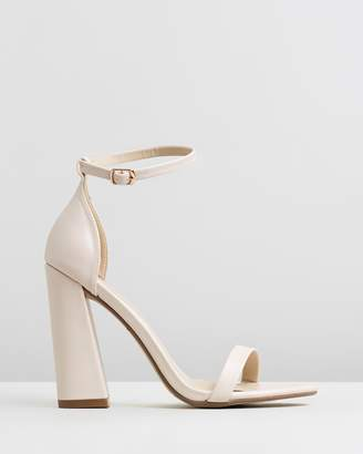 Missguided Barely There Flared Heels