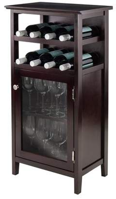 Winsome Wood Alta Display Wine Cabinet, Espresso Finish