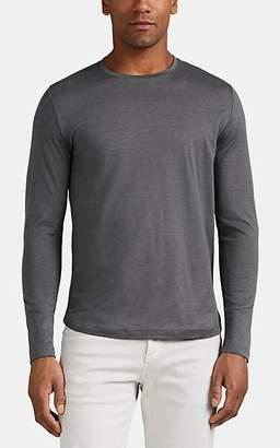 Loro Piana Men's Cotton Jersey Long-Sleeve T-Shirt - Charcoal