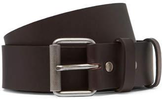 A.P.C. 3.5cm Virgile Brown Leather Belt